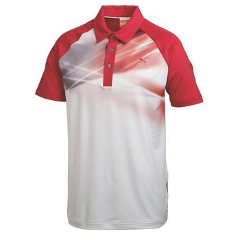Puma Raglan Graphic Golf Polo Shirt