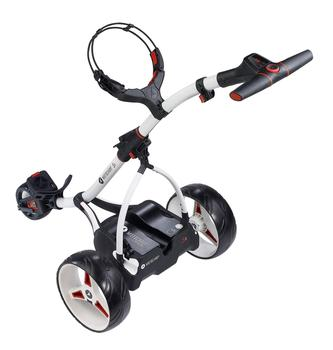 Motocaddy S1 Electric Golf Trolley 2016 White 18 Hole Lead Acid Battery