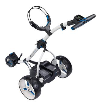 Motocaddy S3 Pro Electric Golf Trolley  White 18Hole Lithium