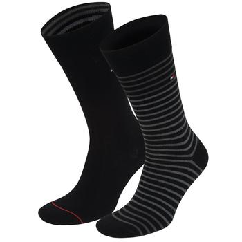Tommy Hilfiger Stripe/Plain Socks - 2 Pack