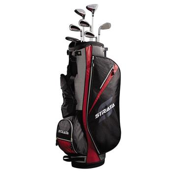 Strata Golf Men's 11pc Package Set Graphite + Free Towels & Balls