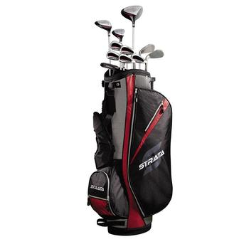 Strata Golf Men's 16pc Package Set Graphite + Free Towels & Balls