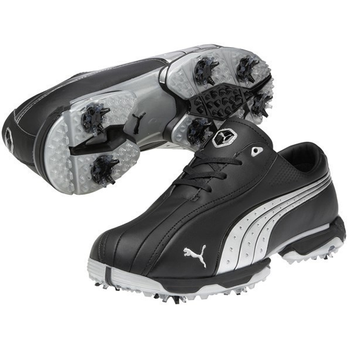 Puma Mens Tux Lux Golf Shoes - Black/Silver - Sale - Size: 9