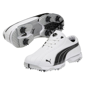Puma Mens Tux Lux Golf Shoes - White/Black - Size: 8