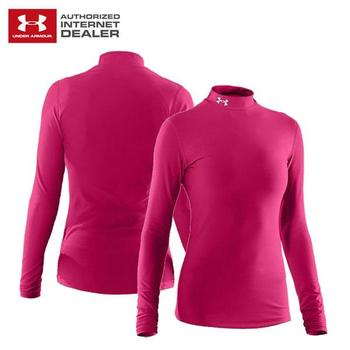 Under Armour Ladies ColdGear Compression Mock Gloss Pink