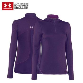 Under Armour Ladies ColdGear Thermo 1/4 Zip Cassis