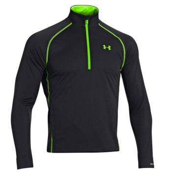Under Armour Cold Gear Infrared Thermo ½ Zip Golf Sweater - Black/Lime - X Large