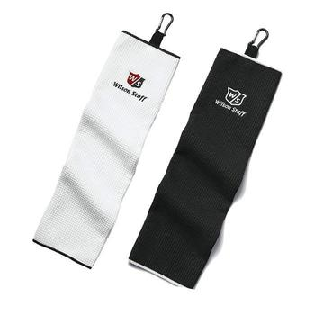 Wilson TriFold Golf Towel White