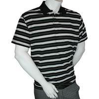 Calvin Klein 3 button Short Sleeve Yarn Dyed Jersey Golf Shirt