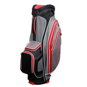Cobra X Lite Cart Bag - Black/Flame Scarlet