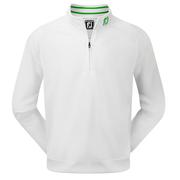 FootJoy Brushed Pique Half-Zip Pullover White/Green
