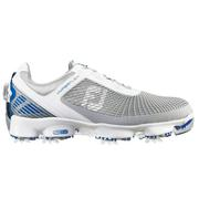 FootJoy Hyperflex BOA Golf Shoes White/Grey/Blue (51053)