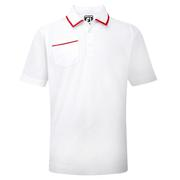 Footjoy Stretch-Jersey Junior Golf Shirt-White/Red