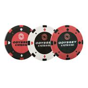 Odyssey Poker Chip Ball Marker (3 Pack)