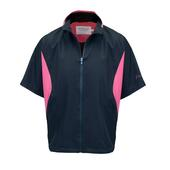 Proquip Ladies Jessica Half Sleeve Windtop Black/Coral