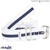 Tommy Hilfiger Ladies Web Belt - White/Midnight