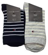 Tommy Hilfiger Ladies Stripe/Plain Socks - 2 Pack