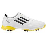 Adidas adiZero 6 Spike Golf Shoes White/Yellow