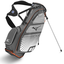 Mizuno Aerolite 5 Stand Bag Grey/Orange