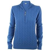Green Lamb Bella Superwool Sweater - Denim