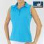 Green Lamb Ladies Sleeveless Contrast Trim Shirt Lagoon