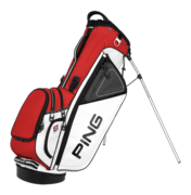 Ping Hoofer Stand Bag - White/Red