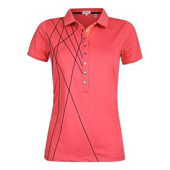 Calvin Klein Ladies Cross Polo Shirt  PinkCode  Size X Small (D14)