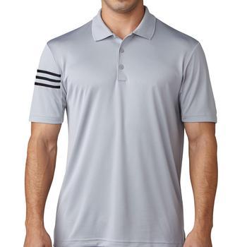 0238fbf407 Adidas ClimaCool 3-Stripes Club Polo Shirt - Mid Grey