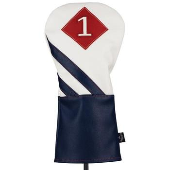 Callaway Vintage Driver Headcover - White/Navy/Red