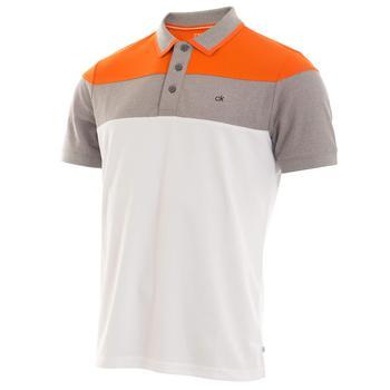 0d69dc7130d4 Calvin Klein Arinox Golf Polo Shirt - White/Pure Orange main