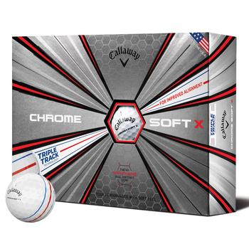 Chrome Soft X Triple Track Golf Balls 2019 - White