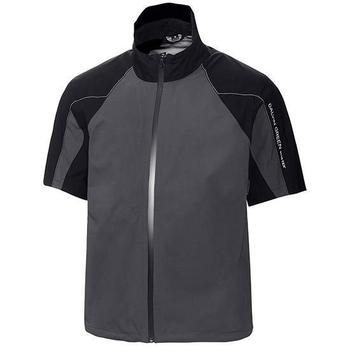 Galvin Green Argo Short Sleeve C-Knit Jacket - Iron Grey/Black/White