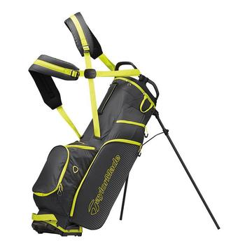 TaylorMade Lite Tech 3 19 Stand Bag - Grey/Lime