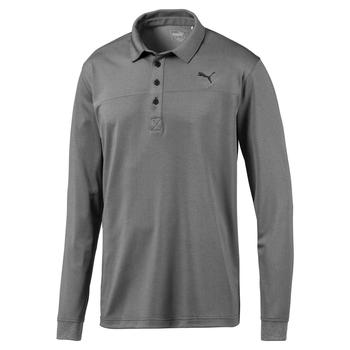 Puma Long Sleeve Polo - Puma Black Heather