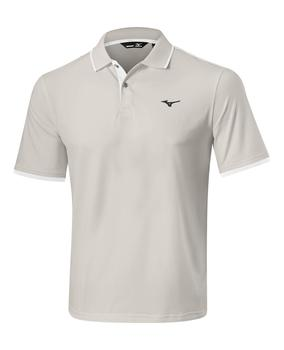 Mizuno_Stretch_Polo_Micro_Chip_Grey_Main