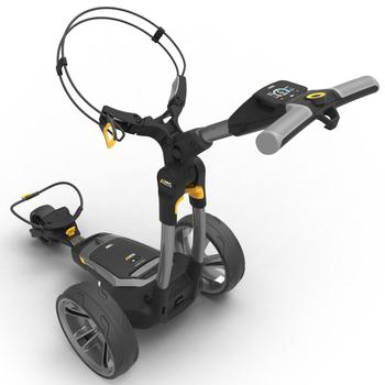 PowaKaddy CT6 Gun Metal Electric Golf Trolley - 18 Hole Lithium