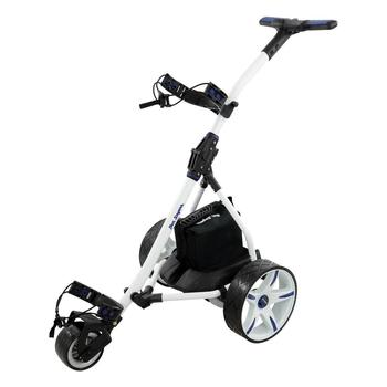 Ben Sayers Electric Golf Trolley Extended Lead Acid - White/Blue