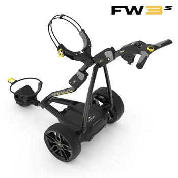 Powakaddy FW3s Electric Golf Trolley Black 2019 - 18 Hole Lithium