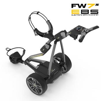 PowaKaddy FW7s EBS Electric Golf Trolley 2018 - Gun Metal