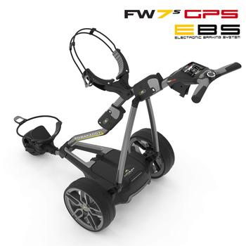 Powakaddy FW7s EBS GPS Electric Golf Trolley 2018 - Gun Metal