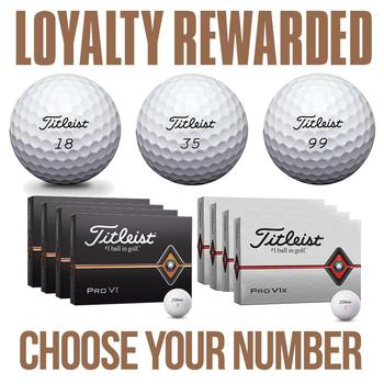 Titleist Pro V1 & Pro V1x 2019 Play Numbers 4 for 3 Offer