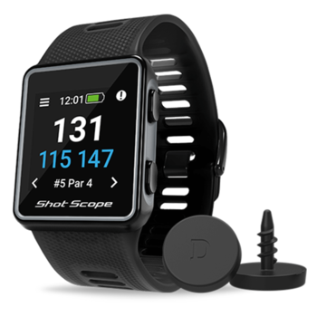 Shot Scope V3 GPS Golf Watch and Game Tracker - Black