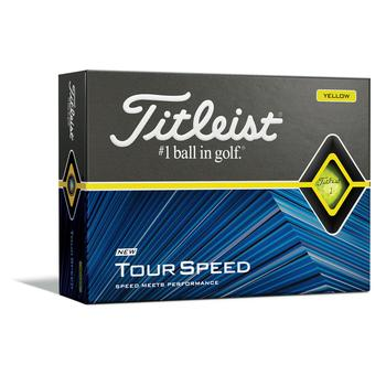 Titleist Tour Speed Golf Balls - Yellow