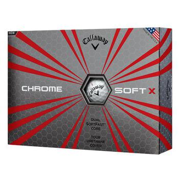 Chrome Soft X Golf Balls 1 Dozen White