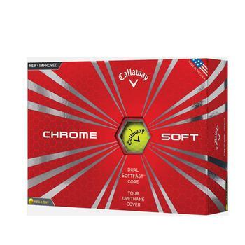 Callaway Chrome Soft Yellow Golf Balls 1 Dozen