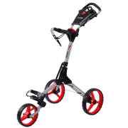 Cube Golf Push Trolley -Silver/Red