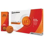 TaylorMade_Project_S_Matt_Orange_Golf_Balls_Main