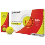 TaylorMade_Project_S_Matt_Yellow_Golf_Balls_Main