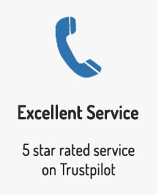 We are passionate in providing the best service possible to all of our customers and are rated 5 stars on Trust Pilot