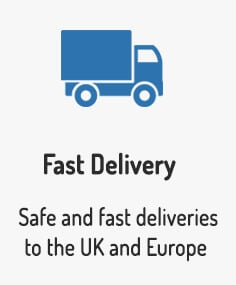 We offer safe and fast deliveries to the UK and Europe